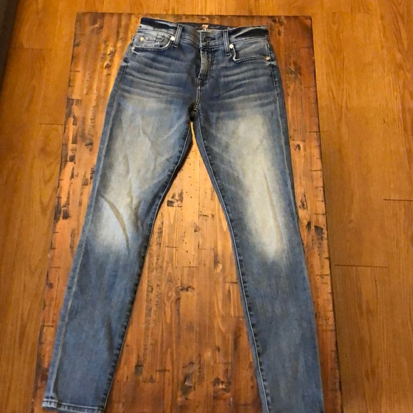 7 For All Man Kind Mid-Rise Skinny jeans